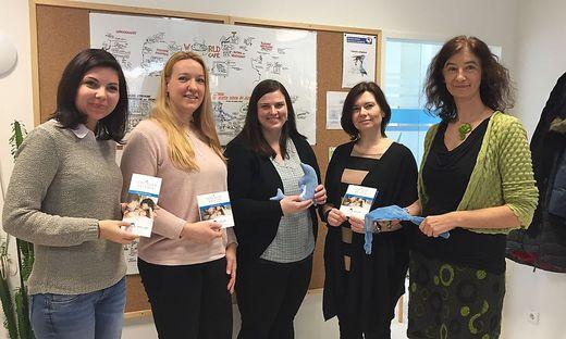 Das Team:  Susanne Sackl, Stefanie Kappel, Silvia Labugger, Elisabeth Schweitzer, Petra Birchbauer