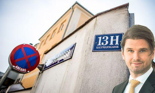 Kaufmanngasse 13 H, Klagenfurt. Hier arbeitet das Team des Landesrechnungshofes um dessen Direktor Günter Bauer