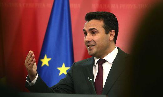Enttäuscht: Nordmazedoniens Regierungschef Zaev