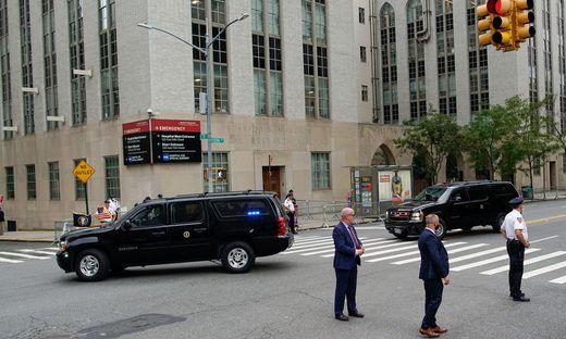 Trump besuchte das New-York-Presbytarian-Krankenhaus in Manhattan