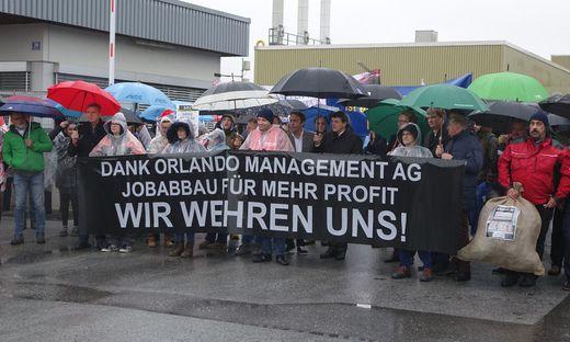 Ein erster Protestmarsch fand in Fürstenfeld bereits statt