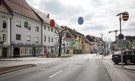 Menschenleere Straßen, wie hier in Völkermarkt. Das Virus hat Kärnten im Griff