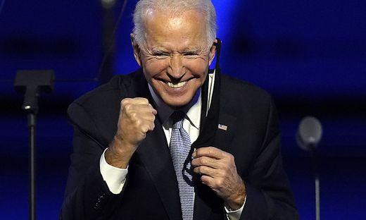 Der frühere Vize ist jetz der Sieger: Joe Biden