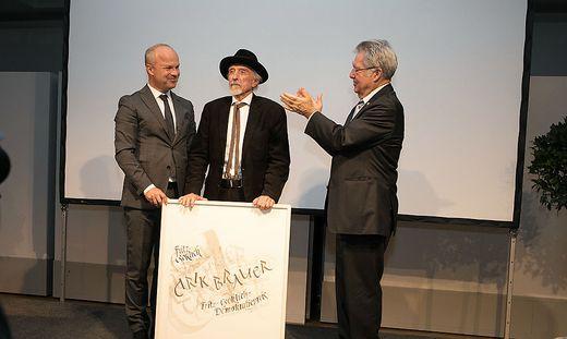 Markus Mair, Arik Brauer, Heinz Fischer