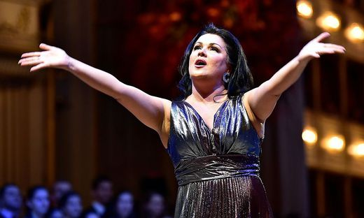Anna Netrebko bei der Generalprobe des Opernballes