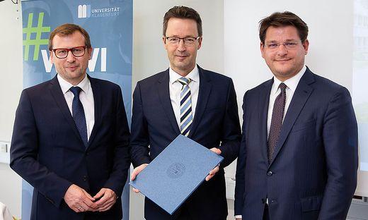 Von links: Erich Schwarz, Lambert T. Koch und Oliver Vitouch
