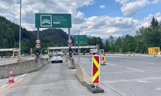 Bis Mitte September werden die Mautstellen beim Gleinalm- und Bosrucktunnel umgebaut