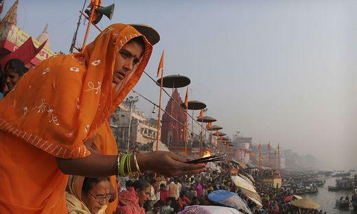Hoffnungsort vieler Pilger: Varanasi