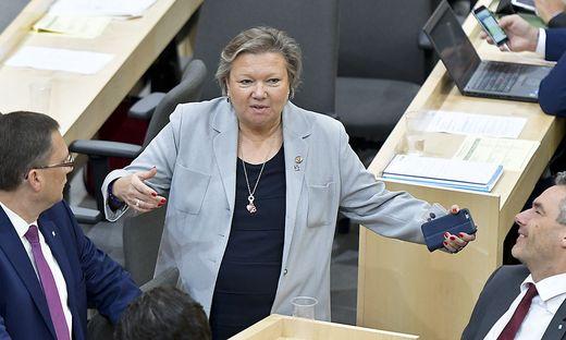Die dritte Nationalratspräsidentin Annelies Kitzmüller, unter deren Ägide die Panne passierte
