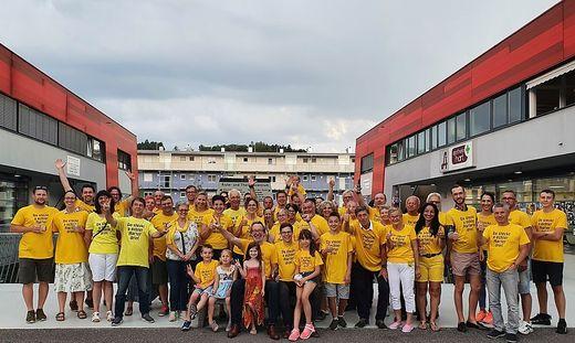 Jubel nach dem Sieg der Bürgerliste in Hart bei Graz