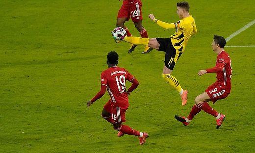 Marco Reus (in Geld) ärgerte sich über den Schiedsrichter