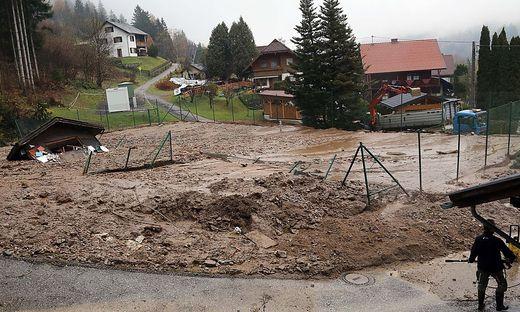 Unwetter wüteten in Feld am See. Schäden durch Vermurungen und Hochwasser wären nicht gedeckt