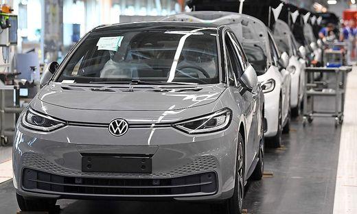 Mehr als jedes dritte neu angemeldete Automobil hatte einen alternativen Antrieb (hier: VW ID.3)