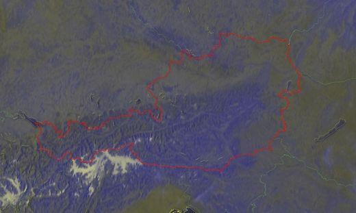 Wolkenlos präsentierte sich der Himmel über Österreich Samstagfrüh