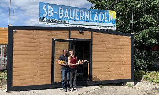 Andreas Husla und Christina Scheriau betreiben den neuen Selbstbedienungs-Bauernladen