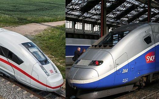 Alstom ist der Hersteller des TGV, Siemens fertigt den ICE – die Fusion könnte heute scheitern