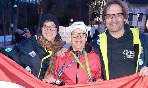 Claudia Müller (M.), heimste sieben Medaillen bei sieben Starts ein
