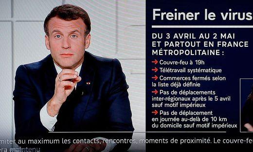 """""""Wir werden die Kontrolle verlieren, wenn wir jetzt nichts tun"""", sagt Macron am Mittwoch in einer Fernsehansprache"""