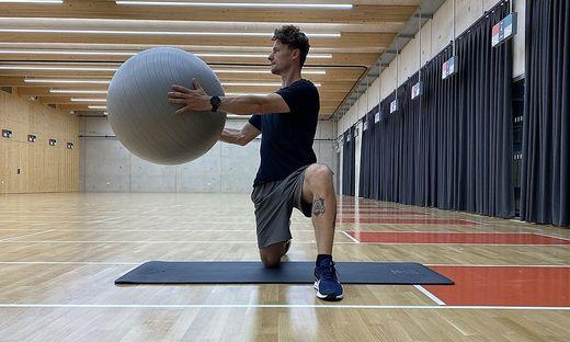 Übungen, Gymnastikball