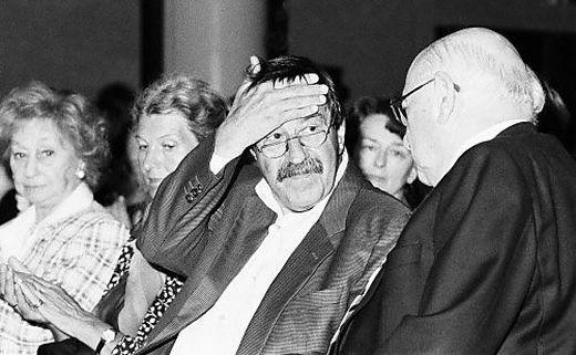 Günter Grass (Mitte) und Marcel Reich-Ranicki