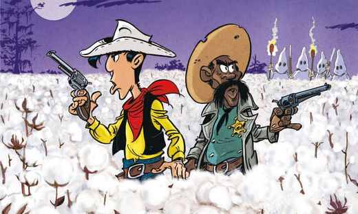 Lucky Luke und Marshall Bass Reeves kämpfen gegen die weißen Baumwollfarmer