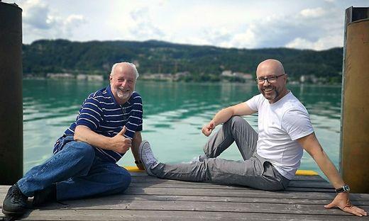 Fast am Ziel sind Walter Polesnik (links) und Gerhard Godescha, die Initiatoren des Seenvolksbegehrens