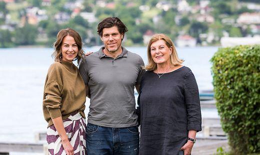Anneliese Trattnig mit Sohn Matthias und Schwiegertochter Pia Trattnig