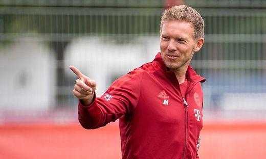 Julian Nagelsmann leitete sein erstes Training als Bayern-Coach