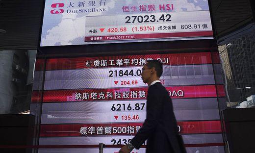 Weltweit sind die Börsen im Sinkflug