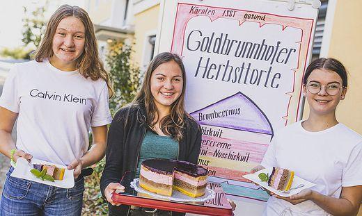 Goldbrunnhofer Herbsttorte  mit Schülerinnen der Fachschule Goldbrunnhof