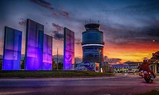 Beim Grazer Airport geht die Sonne wieder auf