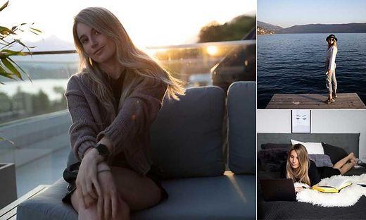 Ob Homeoffice, Entspannen am Balkon oder am Millstättersee, Big-Air-Olympiasiegerin Anna Gasser (28) macht in jeder Lebenslage eine top Figur