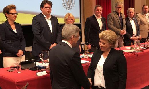 Bei der gestrigen Gemeinderatssitzung in Villach wurde Hochstetter-Lackner von Landeshauptmann Peter Kaiser als Vizebürgermeisterin angelobt