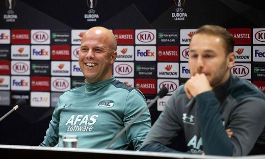 Noch kann Arne Slot gut lachen