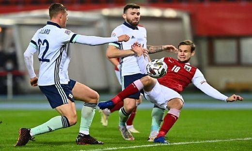 Louis Schaub gleicht für Österreich gegen Nordirland aus