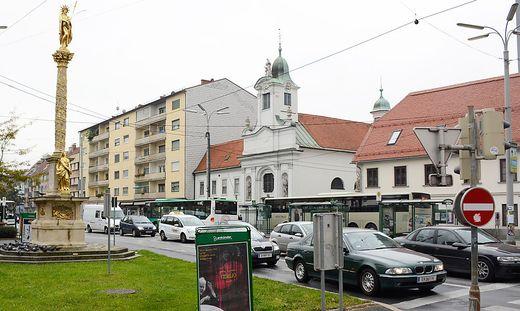 Im Grazer Bezirk Gries war die Hauptwohnsitz-Scheinmeldung