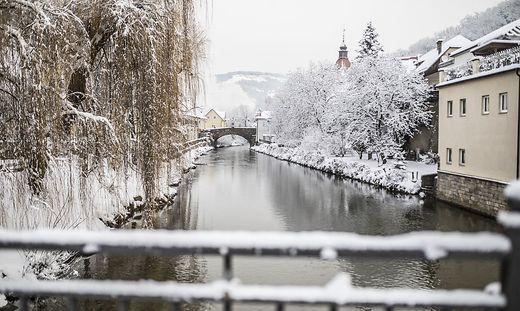 Schnee Schneefall Impressionen Lavanttal Februar 2018