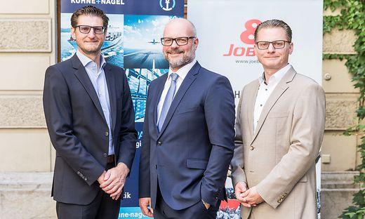 Christoph Jöbstl, Franz Braunsberger und Kurt Jürgen Jöbstl (von links)