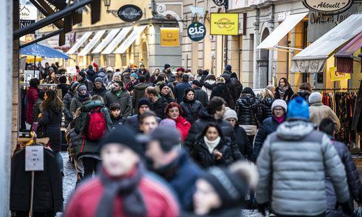 In der Wienergasse in Klagenfurt drängten sich zeitweise die Massen.