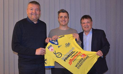 Bernhard Loidl, Philipp Semlic und Erwin Frieszl (von links)