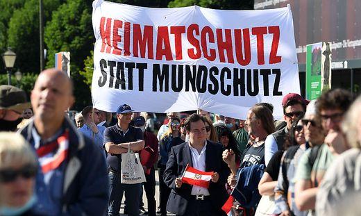 Die Demonstration am Wiener Heldenplatz