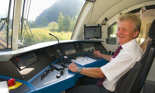 Ältester Triebfahrzeugführer mit 50 Dienstjahren: Hubert Ernst