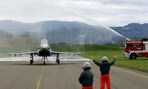 Erster Eurofighter in Zeltweg