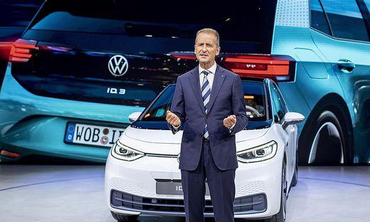 VW-Chef Diess bei der Präsentation des ID.3. Ford will die selbe Plattform für seine E-Autos nutzen.