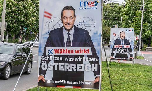 Wahlplakate in Graz
