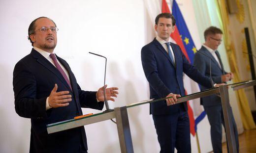 MINISTERRAT: SCHALLENBERG/KURZ/ANSCHOBER
