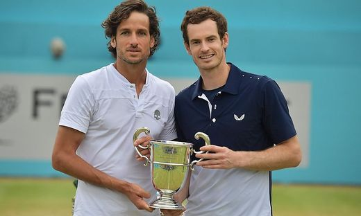 Andy Murray (rechts) mit Feliciano Lopez
