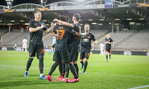 Der LASK verlor gegen Manchester United klar