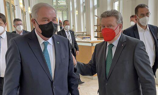 Der steirische Landeshauptmann Hermann Schützenhöfer und Wiens Bürgermeister Michael Ludwig
