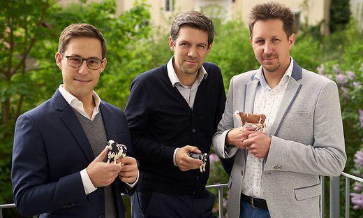 smaXtec-Führungstrio: Robin Waluschnig, Stefan Rosenkranz, Mario Fallast